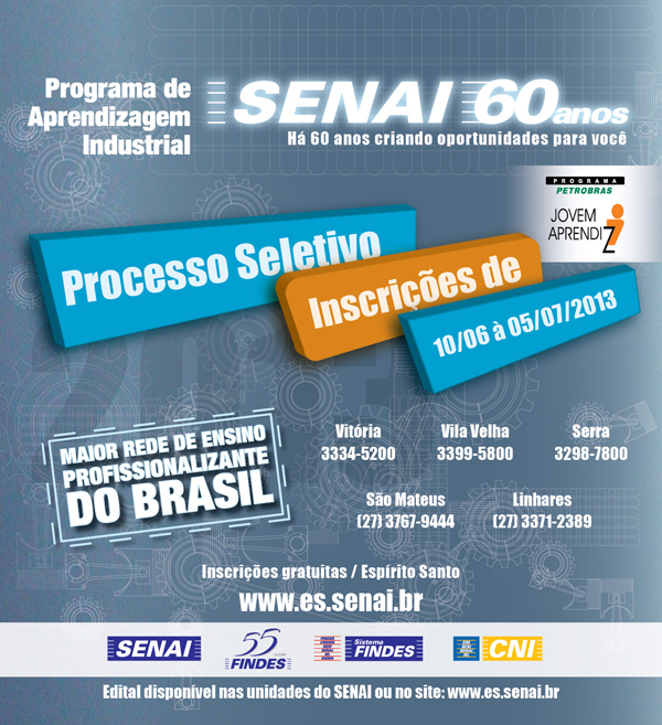 Cartaz Programa Jovem Aprendiz Petrobras ES